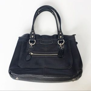 Coach black leather Penelope shopper tote bag